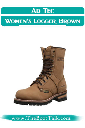 Ad Tec Women's Best Logger Boots Brown-W