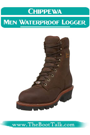 Chippewa Men Waterproof Insulated Steel Toe EH Logger Boots