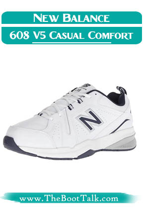 New Balance men's 608 V5 casual comfort cross trainer best shoes for sciatica