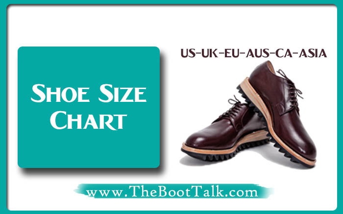 Shoe size chart by theboottalk