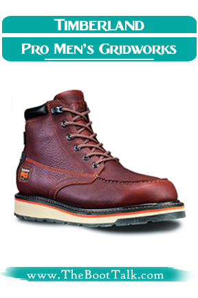 Timberland PRO Men's Gridworks Work Boots for flat feet