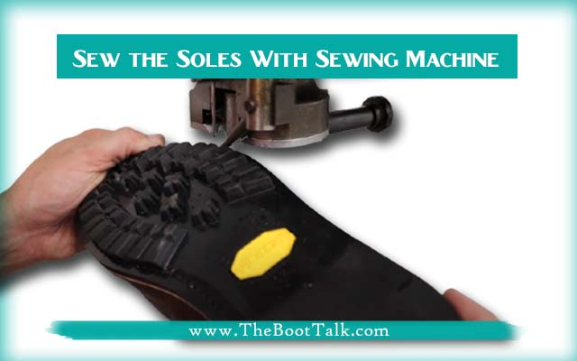 Sew the Soles With Sewing Machine