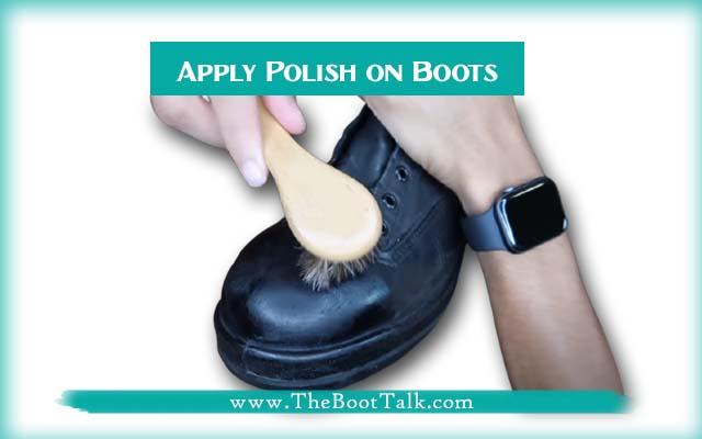 apply polish on boots