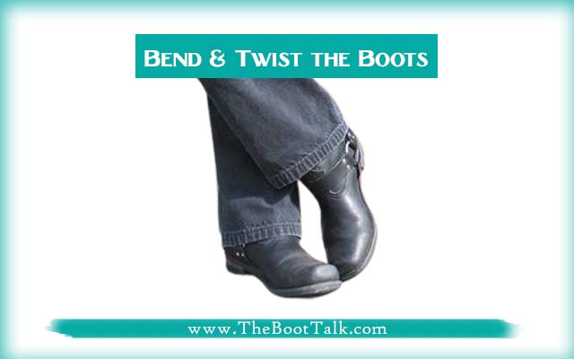 bend and twist the boots