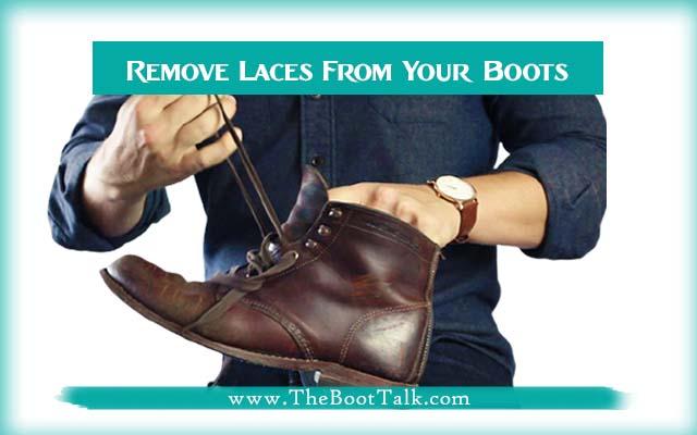 remove boots' laces