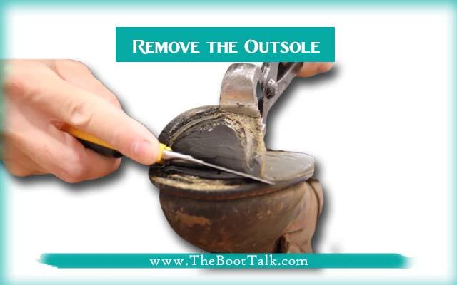 remove the outsole