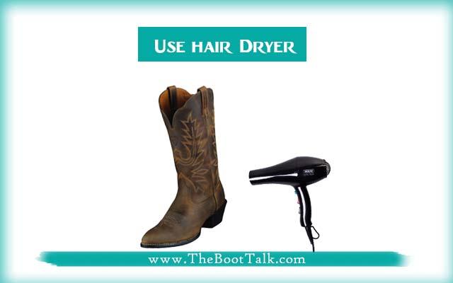 use hair dryer