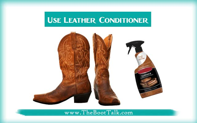 use leather conditioner