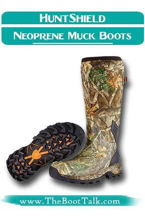 HUNTSHIELD Men's Neoprene Muck Cold Weather Hunting Boot
