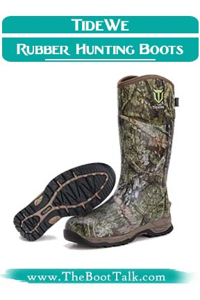 TIDEWE Best Rubber Hunting Boots For Cold Weather