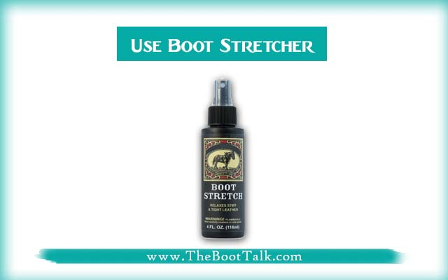 Use Boot Stretching Spray