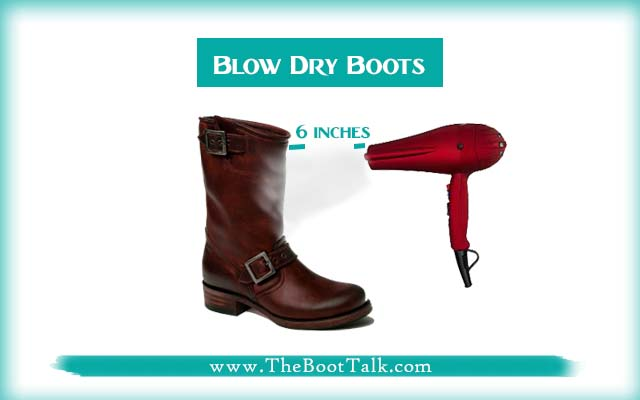 blow dry leather boots to shrink them