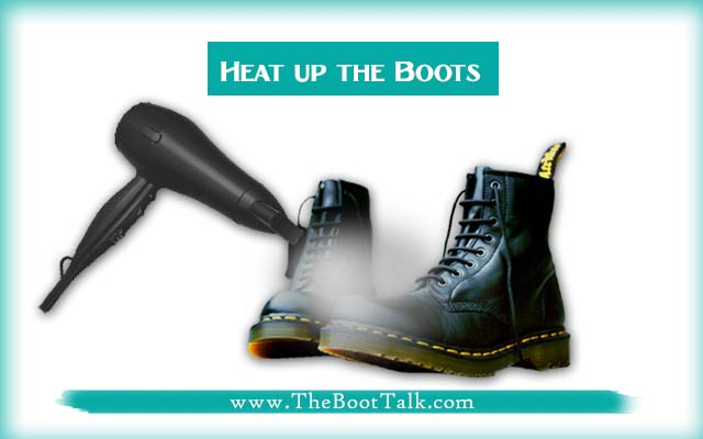 heat up the boots