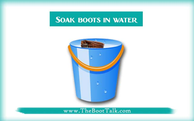 soak leather boots in water to shrink