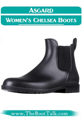 Asgard Women's Ankle Rain Chelsea Boots that look like Doc Martens Boots