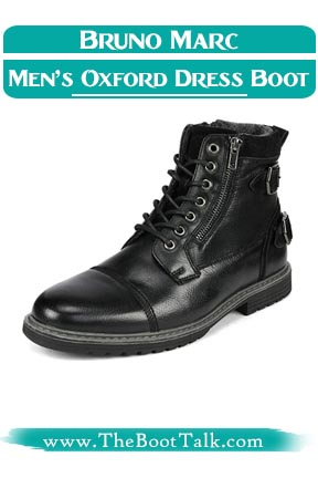 Bruno Marc Men's Motorcycle Oxford Dress Boots that look like Doc Martens