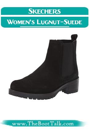 Skechers Women Lugnut Suede Chelsea boots that look like Doc Martens